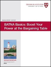 BATNA Basics: Boost Your Power at the Bargaining Table