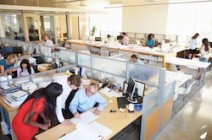 Interior Of Busy Modern Open Plan Office