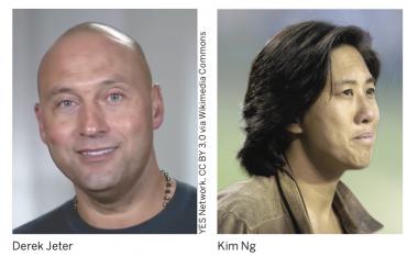 Derek Jeter and Kim Ng