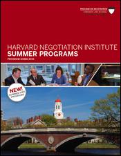 Harvard Negotiation Institute 2015 Summer Programs Guide