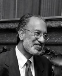 Black and white image of Dr. Johnston Barkat