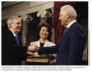 Joe Biden with Mitch McConnell