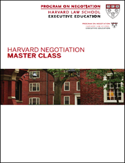 Negotiation Master Class Program Guide