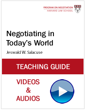 Negotiating in Todays World