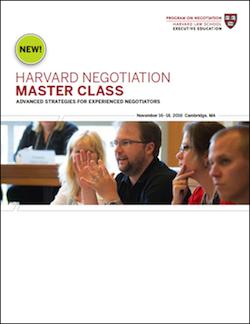 Negotiation Master Class Fall 2016 Program Guide