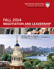 Fall 2014 Seminar Program Guide