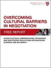 Overcoming Cultural Barriers in Negotiation