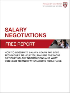 <b>NEW FREE REPORT!</b> Salary Negotiations