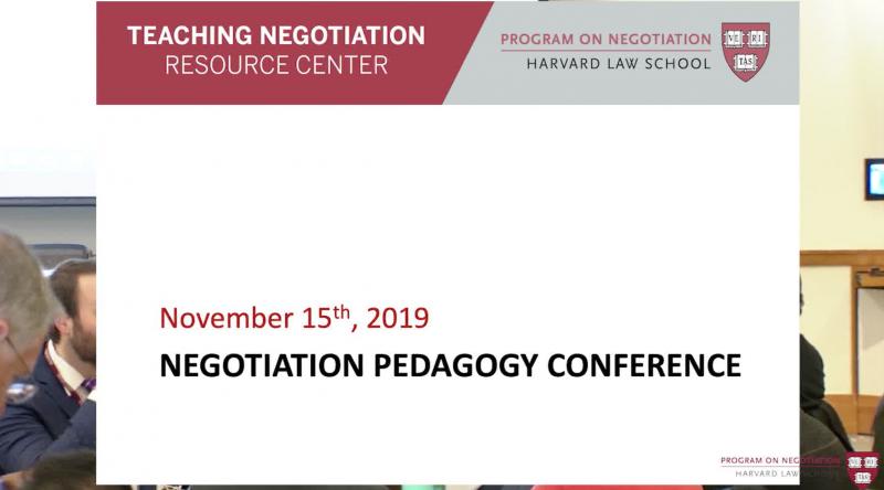 Negotiation Pedagogy Conference