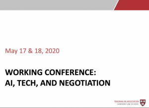 AI, Technology, and Negotiation Conference