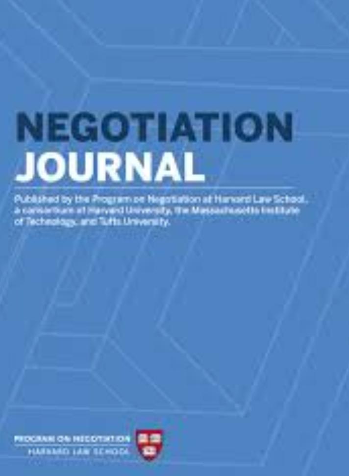 Negotiation Journal
