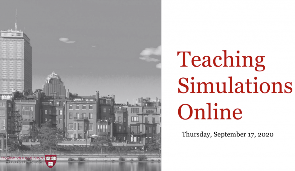 Teaching Simulations Online