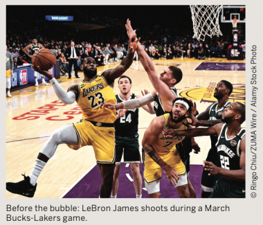 March Bucks-Lakers Game