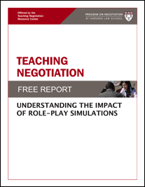 NEW! Teaching Negotiation: Understanding The Impact Of Role-Play Simulations