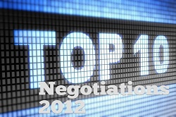 Famous Negotiators Feature in Top Negotiations of 2012