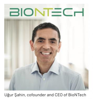 Ug ̆ur Sahin, cofounder and CEO of BioNTech