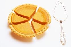 pumpkin pie as pie chart