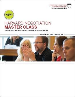 Negotiation Master Class Fall 2015 Program Guide