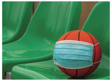 Basketball with mask