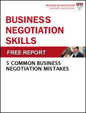 Business Negotiation Skills: 5 Common Business Negotiation Mistakes