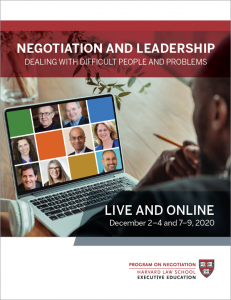 Negotiation and Leadership December  2020 Brochure