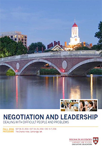 Negotiation and Leadership 2015