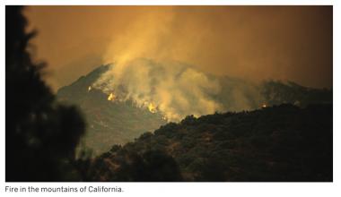 fire California mountains