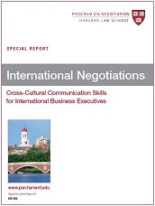 International Negotiations: Cross-Cultural Communication Skills for International Business Executives