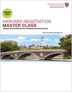 Negotiation Master Class Spring 2020 Program Guide