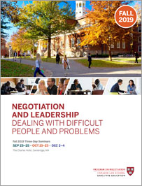 Negotiation and Leadership Fall  2019 Brochure