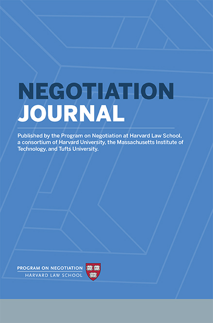 <em>Negotiation Journal</em>