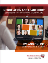 Negotiation and Leadership October  2020 Brochure