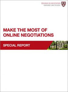 Make the Most of Online Negotiations
