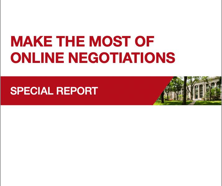 Online Negotiations