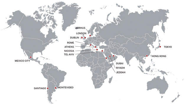 PON Global locations