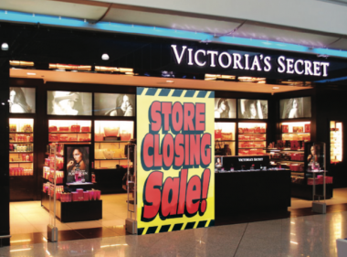Store with closing sign
