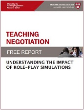 Teaching Negotiation: Understanding The Impact Of Role-Play Simulations