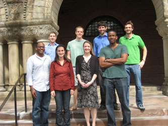 Top row, left to right: A. David Lander, Matthew Walsh, David Roth, Russell Herman.  Bottom row, left to right: F. Jamal Fulton, Betny Townsend, Kristi Jobson, Aaron Dalnoot